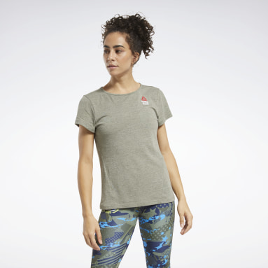 Women CrossFit Green Reebok CrossFit® Games ACTIVCHILL+COTTON Tee