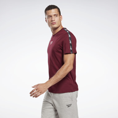 Men Fitness & Training Burgundy Training Essentials Tape Tee