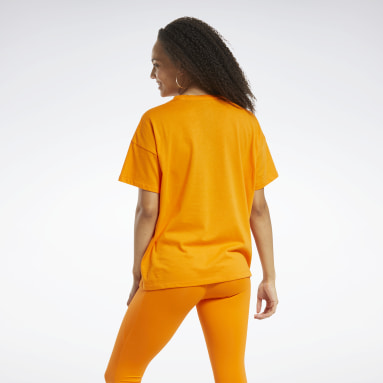 Kvinder Hiking Orange Edgeworks Graphic Tee