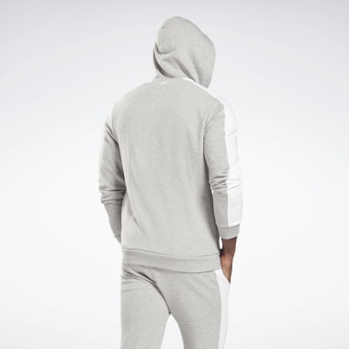 Felpa con cappuccio Training Essentials Linear Logo Zip-Up Grigio Uomo Fitness & Training