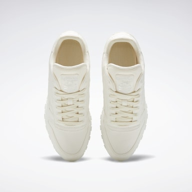 Men Classics White Classic Leather Grow Shoes