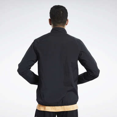 Men Training Black Track Jacket