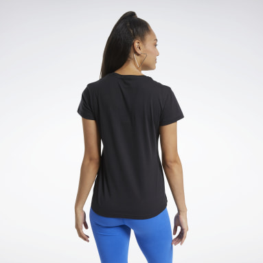 T-shirt Training Essentials Graphic Nero Donna Fitness & Training