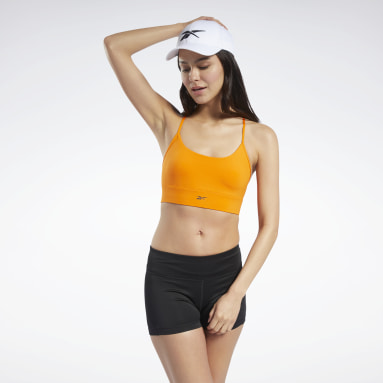 Top deportivo de bajo impacto Workout Ready Tri Naranja Mujer Fitness & Training