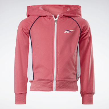 Mädchen Fitness & Training Two-Piece Reebok Classic Full-Zip Hoodie and Joggers Set Orange