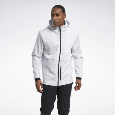 Men Training White Thermowarm Deltapeak Full-Zip Control Hoodie
