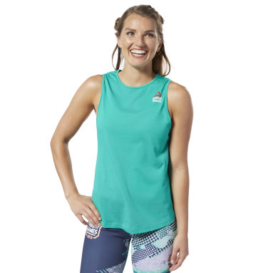 Musculosa Reebok CrossFit® Games ACTIVCHILL + Cotton Verde Mujer CrossFit