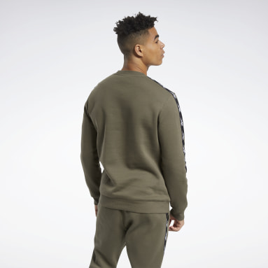 Men Fitness & Training Green Training Essentials Tape Crew Sweatshirt