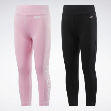 Girls Training 2-Pack Solid/Mesh Pocket Leggings