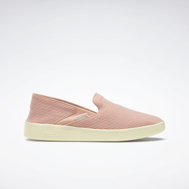 Women Casual Pink Cotton & Corn Slip-On Shoes