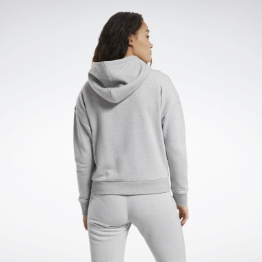 Women Cross Training Grey Training Essentials Logo Hoodie