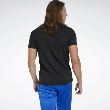 Remera Graphic Series Reebok Stacked Negro Hombre Fitness & Training