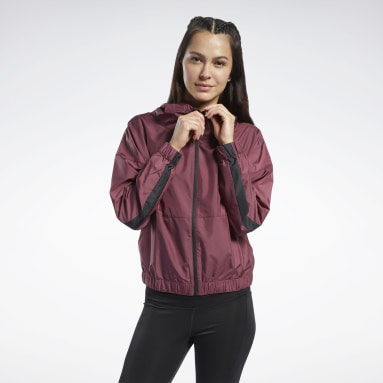 Women Training Burgundy Jacket