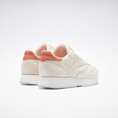 Women Classics Pink Classic Leather Ripple Women's Shoes