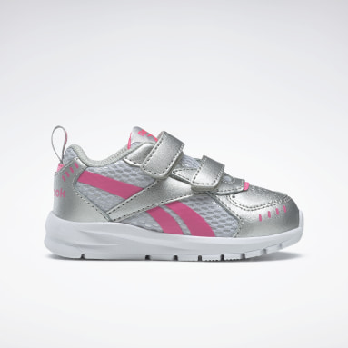 Girls Running Silver Reebok XT Sprinter Shoes