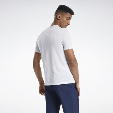 Men Training White Tee
