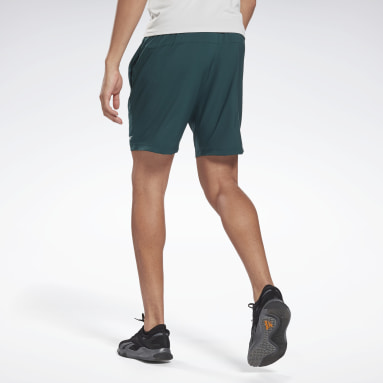 Men Fitness & Training Green Workout Ready Shorts