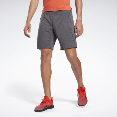 Men Pilates Grey Knit Shorts