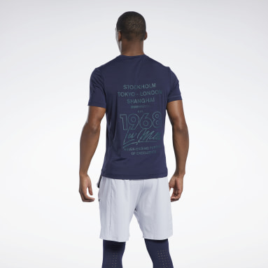 Men Studio Blue Les Mills® Activchill T-Shirt