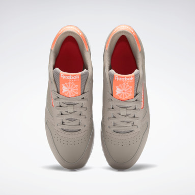 Women Classics Grey Classic Leather Double Shoes