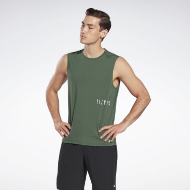 Men Studio Green LES MILLS® ACTIVCHILL Sleeveless Tee