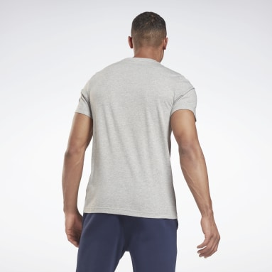 T-shirt imprimé Series Reebok Stacked Gris Hommes Fitness & Training