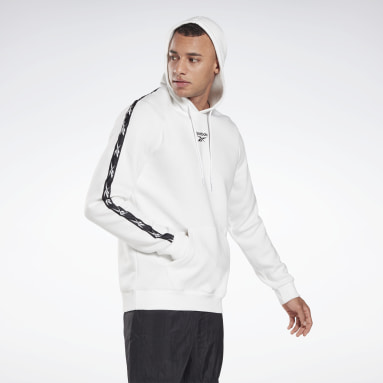Sweat à capuche Training Essentials Tape Blanc Hommes Fitness & Training