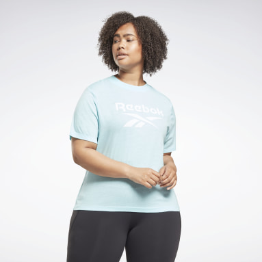 Women Training Blue Reebok Identity T-Shirt (Plus Size)