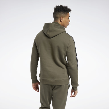 Men Fitness & Training Green Training Essentials Tape Hoodie