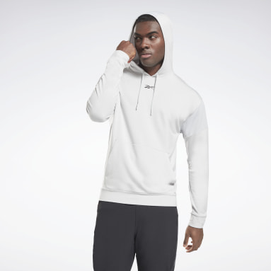 Men Basketball Grey Workout Ready Performance Hoodie