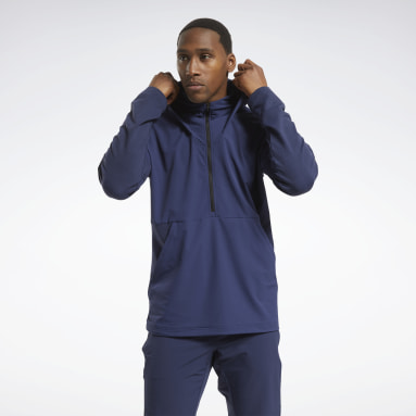 Men Studio Blue United By Fitness Control Hoodie