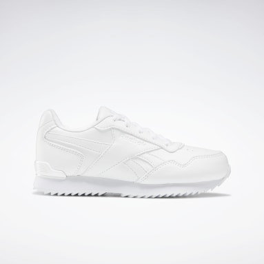 Classics White Reebok Royal Glide Ripple Clip Shoes