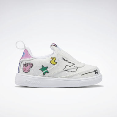 Infants Classics White Peppa Pig Club C Slip-On IV Shoes