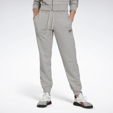 Pantalón Reebok Identity French Terry Gris Mujer Fitness & Training