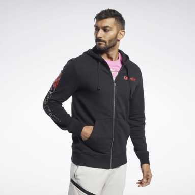 Männer Cross Training Reebok CrossFit® Full-Zip Hoodie Schwarz