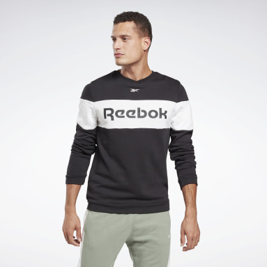 Men Fitness & Training Black Training Essentials Linear Logo Crew Sweatshirt