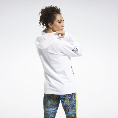 Women CrossFit White CrossFit® Control Hooded Jacket