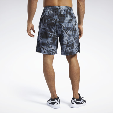 Men CrossFit Black Reebok CrossFit® Austin II Taped Print Shorts