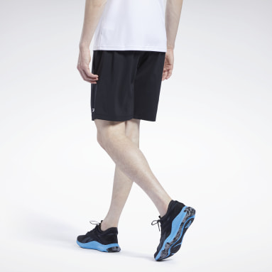Men Running Black Workout Ready Shorts