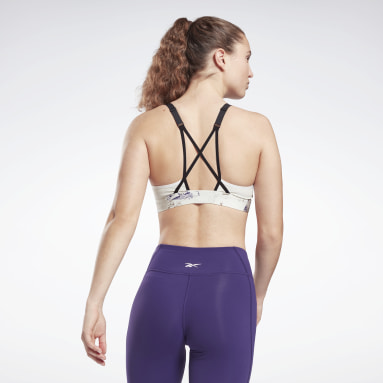 Women Training Grey Lux Strappy Padded Sports Bra