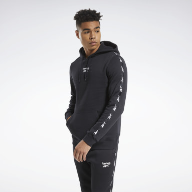 Männer Fitness & Training Training Essentials Tape Hoodie Schwarz