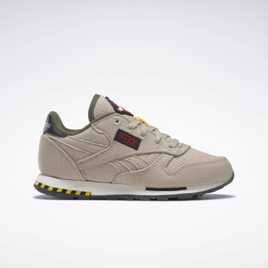 Tenis CLASSIC LEATHER  x GHOSTBUSTERS Beige Niño Classics