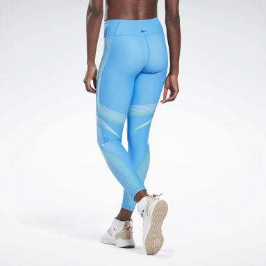 Women Studio Blue Lux Bold 2 High-Rise Leggings