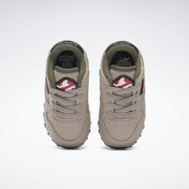 Tenis Classic Leather Ghostbusters Beige Niño Classics