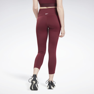 Women Studio Burgundy Studio Taped Leggings