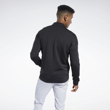Men Fitness & Training Black Speedwick Layering Track Top