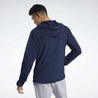 Men Fitness & Training Blue Training Essentials Jacket