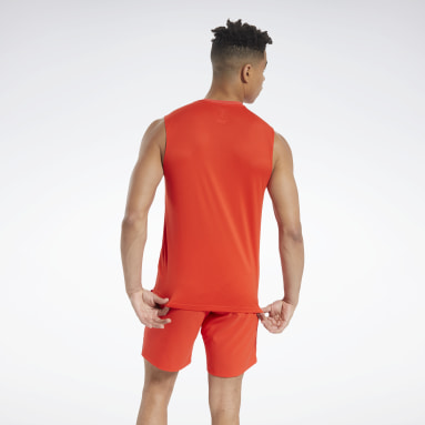 Men Training Red Workout Ready ACTIVCHILL Sleeveless Tee