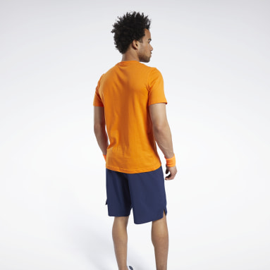 T-shirt imprimé Orange Hommes Fitness & Training