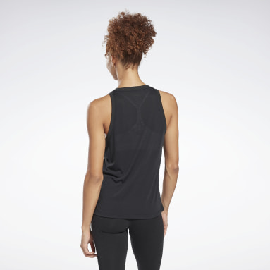 Women Studio Black Workout Ready Supremium Big Logo Tank Top